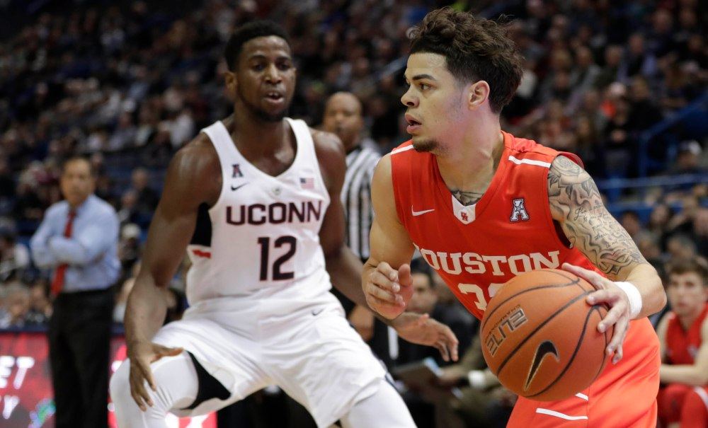 NCAA Basketball: Houston at Connecticut