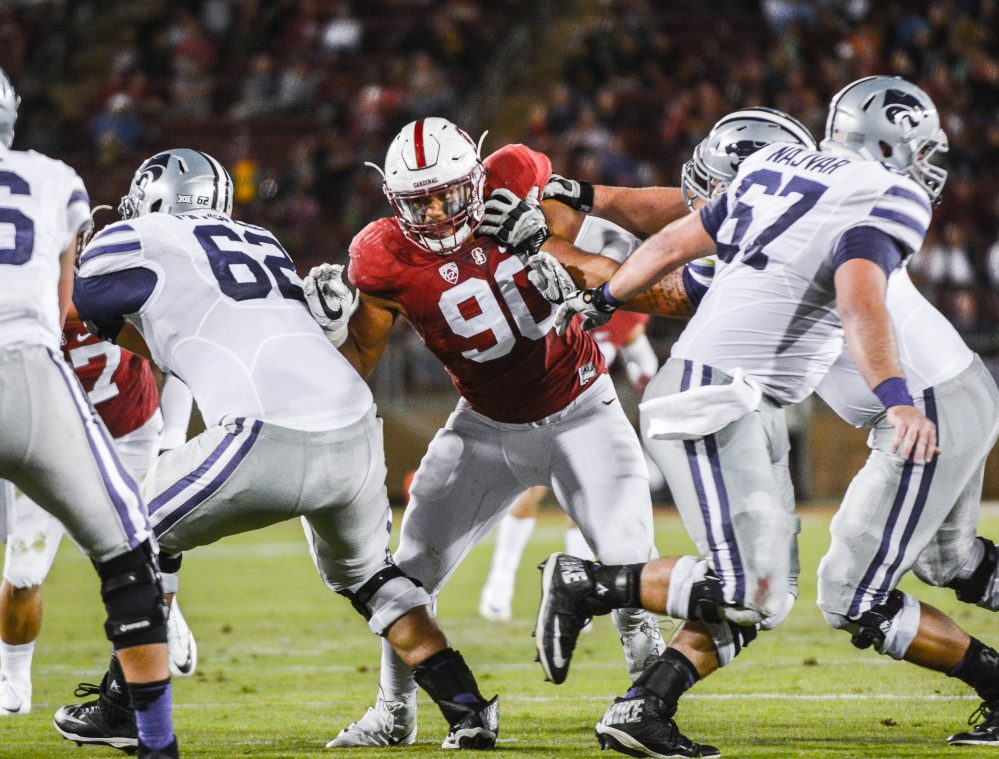 Junior defensive end Solomon Thomas (90)