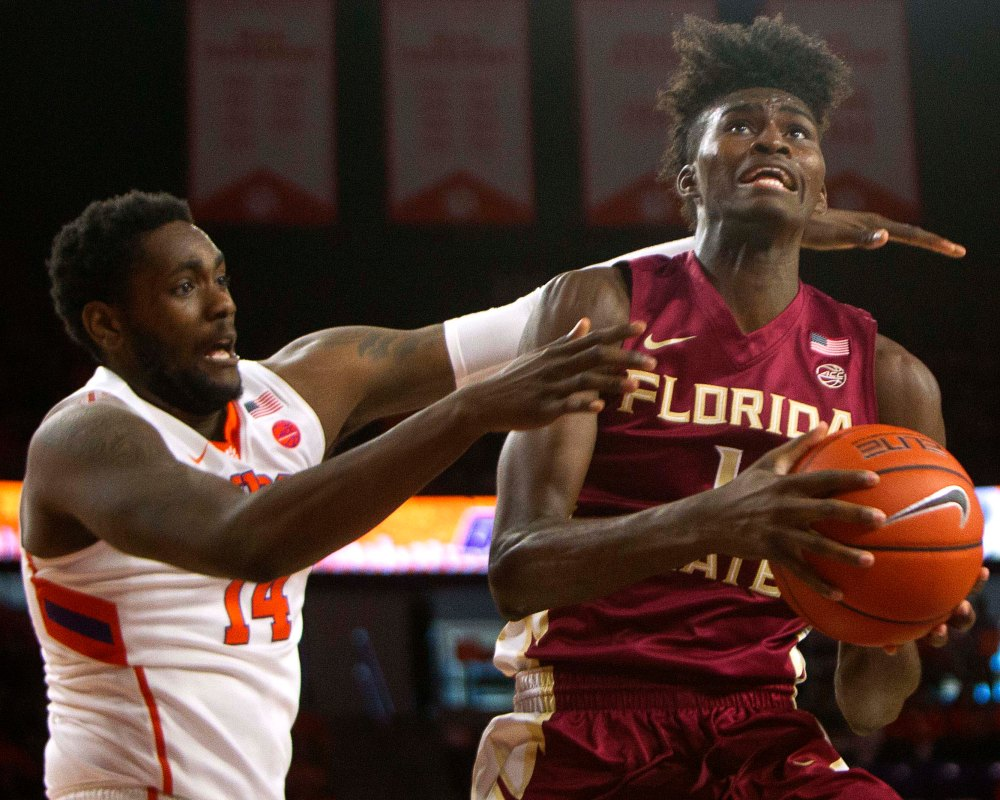 NCAA Basketball: Florida State at Clemson